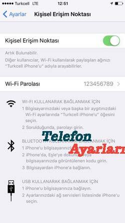 iPhone 8 İnternet Paylaşımı