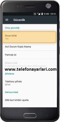 Turkcell Telefonlarda Kilit ve Desen Koyma