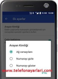 Turkcell Telefonlarda Numara Gizleme