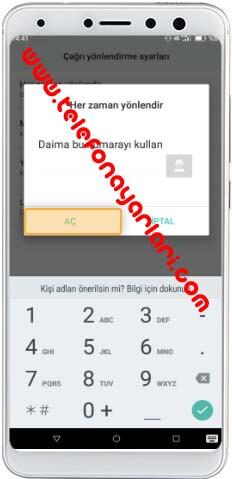 Casper Telefonlarda Arama Yönlendirme İşlemi: