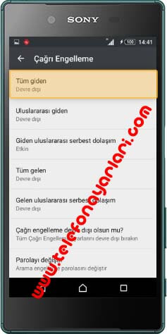 general mobile arama engelleme sifresi