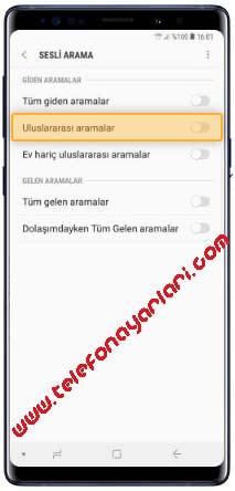 Samsung Galaxy S8 Arama Engelleme - Cep Telefonu Ayarları