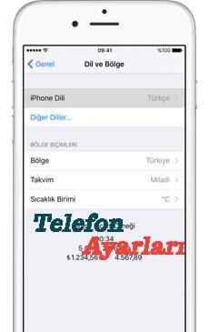 iPhone 11 Dil Değiştirme