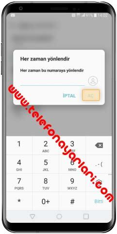 LG K50S Arama Yönlendirme