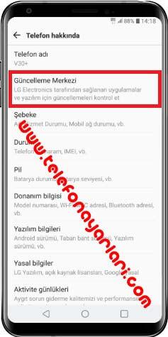 LG K50S Telefon Güncelleme
