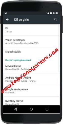 Alcatel Idol 5 Dil Değiştirme