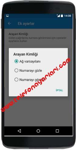 Alcatel Idol 5 Numara Gizleme