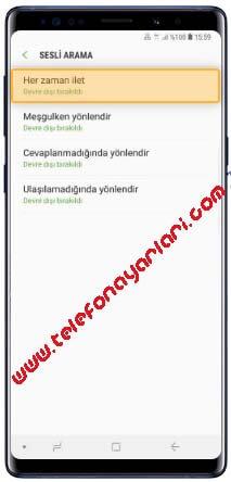 Samsung Galaxy A21s Arama Yönlendirme