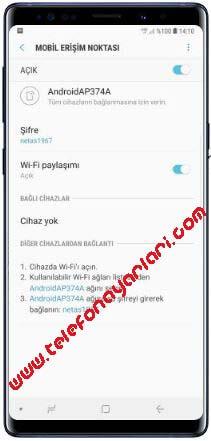 Samsung Galaxy A21s Hotspot