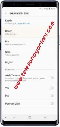 Samsung Galaxy A21s Şifre Koyma