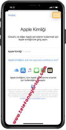 iPhone 11 iCloud Ekleme