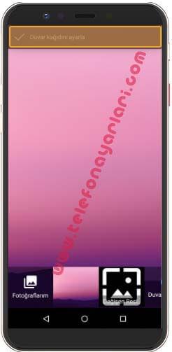 General Mobile GM 8 Ekran Resmi Değiştirme