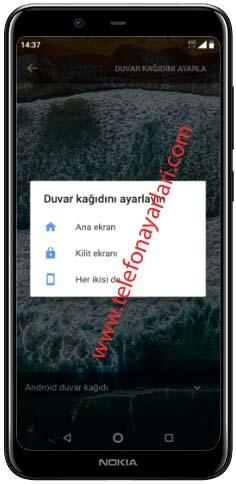 Nokia 8.1 Ekran Resmi Değiştirme