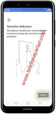 Nokia 8.1 Parmak İzi Ayarları