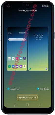 LG K50S Ekran Resmi Değiştirme
